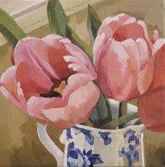 """Daily Paintworks - """"Deliciously Pink"""" by Joanna Olson"""