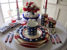 Table for One: 4th of July Table for One