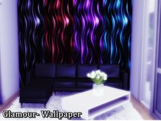 Sims 4 CC's - The Best: Glamour Wallpaper by Naddiswelt