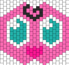 See related links to what you are looking for. Beading Patterns Free, Peyote Patterns, Cross Stitch Patterns, Bead Patterns, Kandi Cuff, Kandi Bracelets, Kandi Mask Patterns, Pony Bead Crafts, Crochet Mask