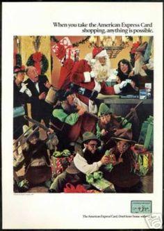 Christmas Santa Elves American Express (1979)