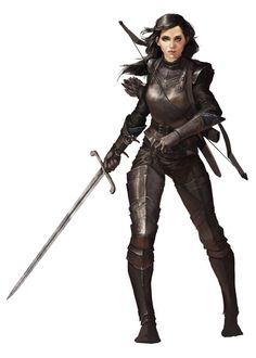 Female warrior or rogue, fantasy character inspiration [Art] Raven, my Rogue/Fighter for an upcoming campaign (by : DnD Fantasy Character Design, Character Inspiration, Character Art, Fantasy Inspiration, Character Concept, Dnd Characters, Fantasy Characters, Female Characters, Female Armor