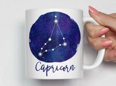 Capricorn Constellation Mug, Capricorn Zodiac Mug, Capricorn Coffee Mug, Unique Coffee Mug, Astrology Mug, Zodiac Gift 0072