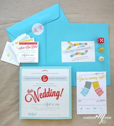 Get Me to the Wedding - Playable Board Game Wedding Invitation SAMPLE