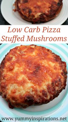 Low Carb Pizza Stuffed Mushrooms Recipe - Quick & Easy Keto Portobello Pizza Crust Base - great to enjoy with your best low carb pizza sauce and toppings.
