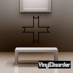 Cross Wall Decal - Vinyl Decal - Car Decal - DC018