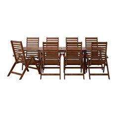 ÄPPLARÖ Table+8 chaises doss régl, ext IKEA