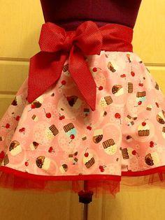 Cupcakes half apron