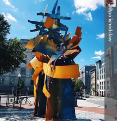 Repost from @polishedclaw using @RepostRegramApp - That very pretty leafy thing in front of the restaurant that looked extra pretty 'cuz I was #fooddrunk (It's actually a sculpture by Albert Paley called Epoch...still pretty!) #zaytinya #thebrunchlife #WashingtonDC #dcmonuments #galleryplace #artsy #albertpaley