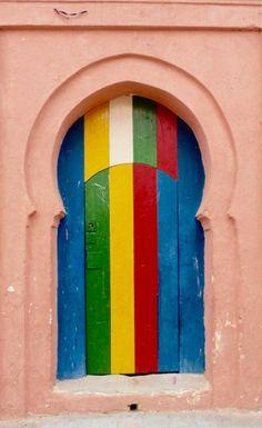 Colorful door Beni Mellal, Morocco
