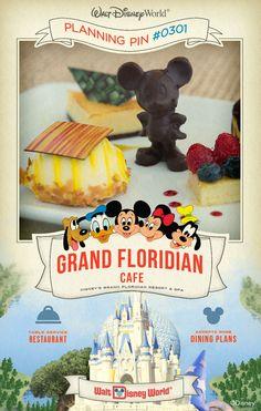 Walt Disney World Planning Pins: Grand Floridian Cafe