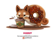 Daily 1339. Dognut by Cryptid-Creations.deviantart.com on @DeviantArt