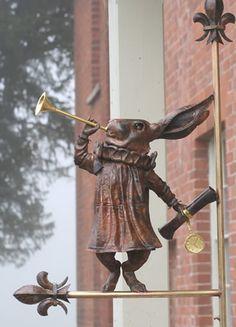 The White Rabbit from Alice in Wonderland Rabbit Sculpture, Art Sculpture, Pub Signs, Shop Signs, Lapin Art, Rabbit Art, Bunny Art, Sculptures For Sale, Adventures In Wonderland