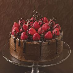 """Although I have some great """"from-scratch"""" recipes, this chocolate strawberry cake uses a boxed mix with plenty of doctoring. It has become a popular groom's cake that gets more attention than the wedding cake. —Nora Fitzgerald, Sevierville, Tennessee"""