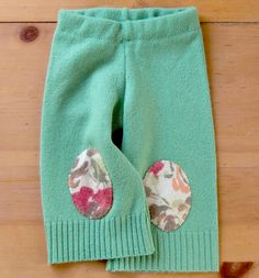 Upcycled Longies Recycled Wool Sweater Pants