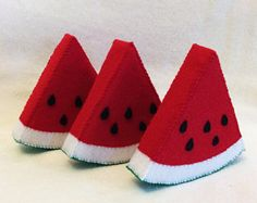 Felt Watermelon Slices, Felt Food, Play Food