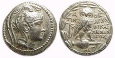 Athens, ca. 136 to 136 BC. Silver new style tetradrachm.