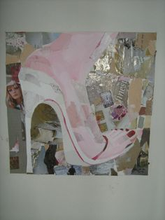 Shoe art, Summer sandal with painted toe nails