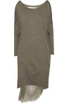 Raquel allegra distressed cotton-blend dress.