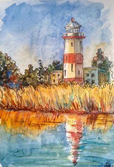 Watercolor Landscape, Abstract Landscape, Landscape Paintings, Watercolor Paintings, Original Paintings, Watercolor Sketchbook, New Artists, Art For Sale, Wall Art Decor