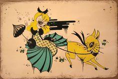 A Dark, Twisted Cinderella Story: Artist Camille Rose Garcia Holds A Black Mirror Up To Children's Classics Camille Rose Garcia, Page Frames, Surreal Artwork, Lowbrow Art, Pop Surrealism, Black Mirror, Art Model, Cartoon Styles, Amazing Art