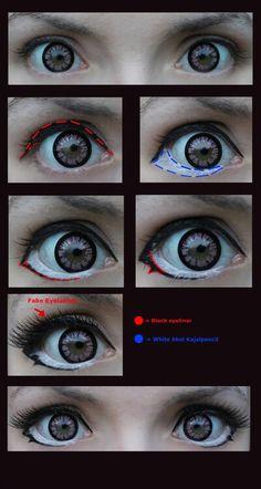 Yuno Gasai Make-Up [Cosplay] by JackyChip -- Anime Eye Makeup, Anime Cosplay Makeup, Fx Makeup, Costume Makeup, Makeup Inspo, Makeup Inspiration, Makeup Eyes, Doll Makeup, Anime Make-up