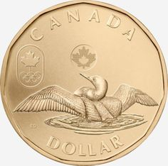 Loonies and commemorative circulation 1 dollar coins. The 1 dollar coin series from Canada