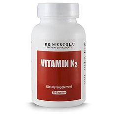 Dr. Mercola Vitamin K2 - 90 Capsules - Supports Memory Function and Bone Health - 150mcg of K2-7 Per Capsule -- You can get additional details at the image link.