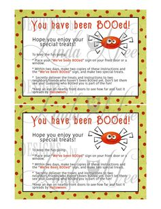 Halloween ~ You have been BOOed Neighbor Gift ~ TREAT BAG Toppers ~ Mini Candy Bar Wrapper ~ You've Been Boo'd ~ Printable ~ Treat ~ Favor You have been BOOed Neighbor Gift comes complete with Sign, Instructions, Mini Hershey Bar Wrappers AND a Ziplock Bag Topper. Additionally,