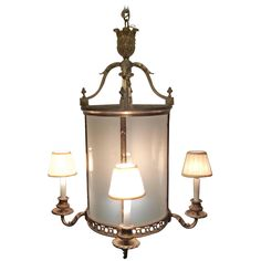 19th Century French Louis XVI lantern chandelier | From a unique collection of antique and modern lanterns at https://www.1stdibs.com/furniture/lighting/lanterns/