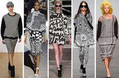 L-R: Christopher Raeburn, Tom Ford, Moschino Cheap & Chic, KTZ, Ashish  Print: Rhythmic Nation