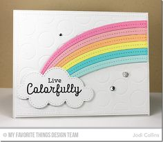 Rainbow Greetings, End of the Rainbow Die-namics, Jumbo Dot Cover-Up Die-namics - Jodi Collins  #mftstamps