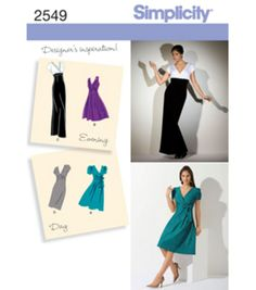 Simplicity Pattern 2549R5-Misses Special Occasion-Sz 14-22Simplicity Pattern 2549R5-Misses Special Occasion-Sz 14-22,