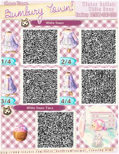Winter Ballet: White Swan and Tiara QR codes