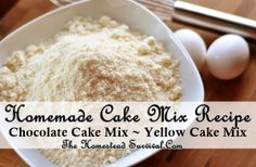 Homemade Cake Mix Recipe | The Homestead Survival No Additives, No Preservatives, No Artificial Ingredients