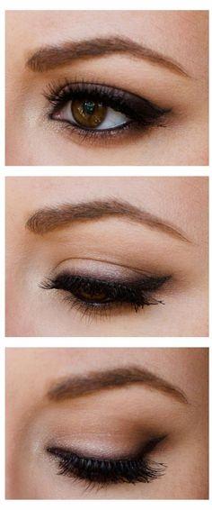 Glamorcast | Makeup - Beauty - Fashion: Smokey black/brown liner