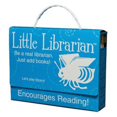 Best gifts for readers. Little Librarian Play Set for kids, $21.99. http://beautymommy.com/