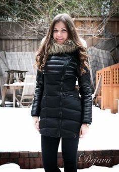 Shauna Leather Down Coat With Fur Trim Down Puffer Coat, Down Coat, Puffer Coats, Fur Coats, Winter Jackets Women, Coats For Women, Parka, Leather Jacket Outfits, Other Outfits