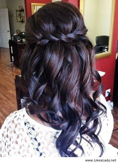 Simple, but cute hairstyle