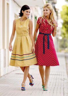 Stoff Stil - Poplin rød m store hvite prikker Custom Dresses, Sewing Clothes, Frocks, Poplin, Sewing Patterns, Polka Dots, Summer Dresses, Skirts, Nice Outfits