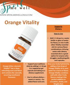 Orange Vitality Essential Oil, Young Living Essential Oils, All natural living, dilution ratios