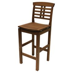 Crafted of Brazilian eucalyptus, this classic barstool is perfect pulled up to your kitchen island or seating guests at an outdoor barbecue....