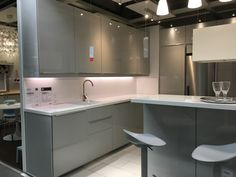 Ikea ringhult gloss light grey kitchen