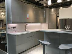 Ikea ringhult gloss light grey kitchen