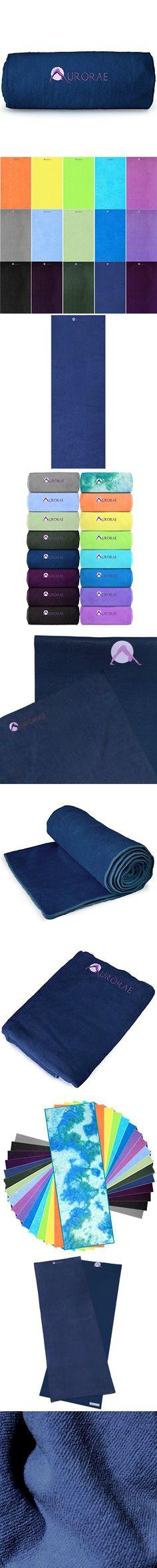 Aurorae Non Slip Hot Microfiber Yoga Mat Towel