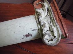 Victorian carved Ionic columns architectural salvage by azulclaro, $149.99
