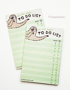 Do Not Want To Do List by Susie Ghahremani / boygirlparty.com