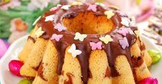 Recette de Gâteau bundt marbré au chocolat spécial anniversaire. Facile et rapide à réaliser, goûteuse et diététique.