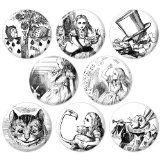 Alice's Adventures in Wonderland 1.25 Inch (32mm) Pinback Button Badge Set 1 - Lenny's Alice in Wonderland shop