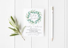 Baby shower Invitation, Eucalyptus Baby Shower Invitation Printable, Printable Invitation Green Leaves nature Invite, Baby Shower Eucalyptus by MomentiDesignStudio on Etsy https://www.etsy.com/listing/494020122/baby-shower-invitation-eucalyptus-baby